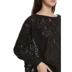 Free People Not Cold In This Top Sweatshirt Black